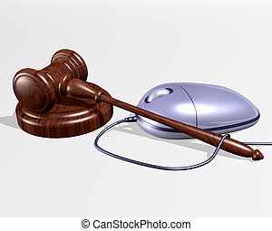 Internet Auctions - An illustration of a gavel resting near...