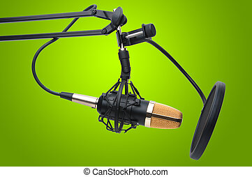 Radio condenser microphone - Condenser Microphone as used...