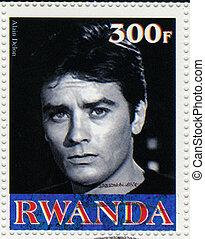 RWANDA - CIRCA 2003 : stamp printed in Rwanda shows Alain...