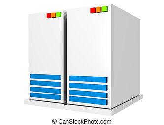 Server - Clip art icon Isolated