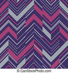 Pattern in zigzag colored