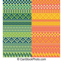 Texture with geometrical ornaments in two range of colors