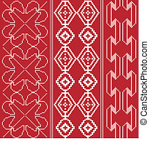 Traditional red and white pattern