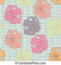 Vector flower pattern