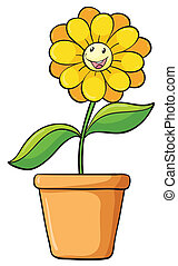 Simple flower - Illustration of a simple flower