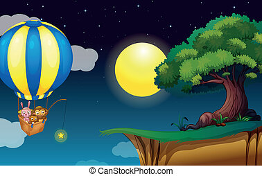 Balloon drift - Illustration of a balloon scene
