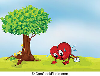 the heart and a tree - illustration of the heart and a tree...