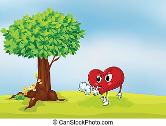 a heart and a tree