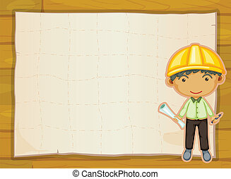 an engineer boy - illustration of an engineer boy on a...