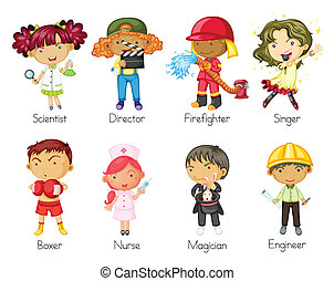 a kids - illustration of a kids on a white background