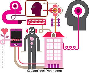 Social Network - vector illustratio - Social Media - vector...