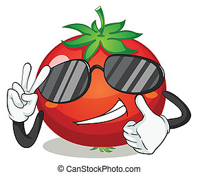 tomato - illustration of tomato on a white background
