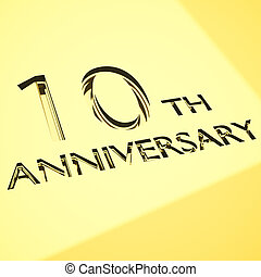 anniversary concepts - gold engraving of 10th anniversary...