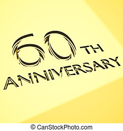 anniversary concepts - gold engraving of 60th anniversary...