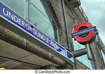LONDON - SEP 27: Underground tube station in London on...