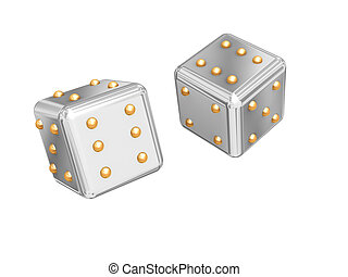 Games cubes. - Picture with the image of two games cubes.