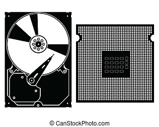 Vector collection icons Computer Hardware Icons - Vector...