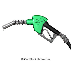 Gas pump nozzle - Isolated illustration of a dripping gas...