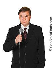 periodista, micrófono