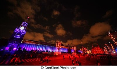 First international festival LIGHT CIRCLE hold on Red Square...