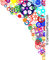 Colorful Gears Background - Gears and wheels. Artistic...