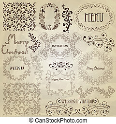 Vector Vintage Design Elements - Vector set: vintage design...