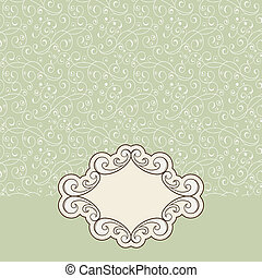 vector seamless pattern and floral frame for your text