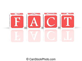 Fact - Rendered artwork with white background