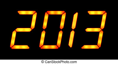 Digital display shows 2013 - Digital display shows the date...