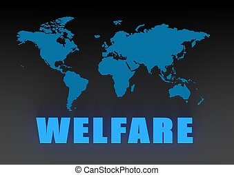 World welfare - Rendered artwork with white background