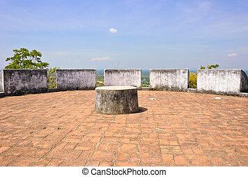 Fortress at Phra Nakhon Khiri Historical Park in Petchaburi,...