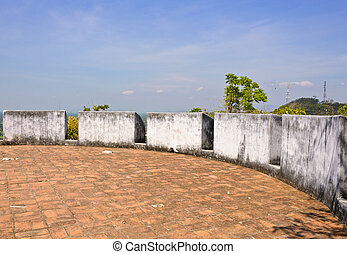 Fortress at Phra Nakhon Khiri Historical Park in Petchaburi,...