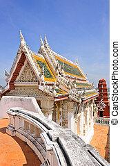 The ordination hall of wat Phra Kaew at Nakhon Khiri Palace,...