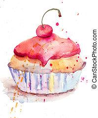 acuarela, Ilustración, pastel