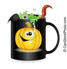 Halloween Vector Graphic - Abstract Conceptual Creative...