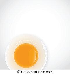 Broken Egg Background Vector
