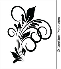 Swirl Vector Design - Abstract Creative Art of Swirl Floral...