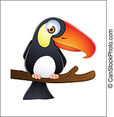 Toucan Vector - Creative Abstract Conceptual Design Art of...