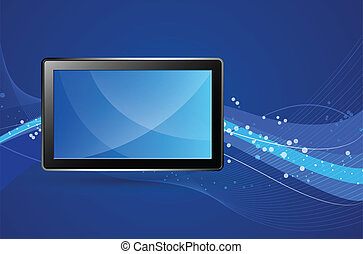 Tablet Vector Illustration - Creative Abstract Conceptual...