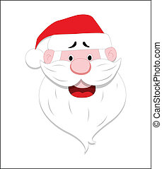 Santa Face Vector - Creative Abstract Conceptual Design Art...