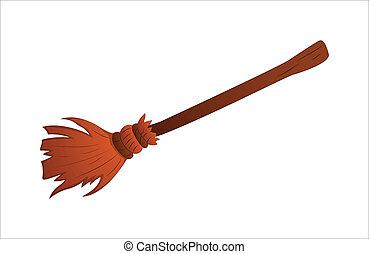Broom Vector - Creative Conceptual Design Art of Broom...