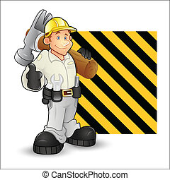 Under Construction Character Vector - Abstract Conceptual...