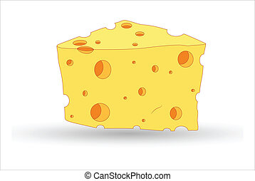 Cheese Vector - Abstract Conceptual Design Art of Cheese...