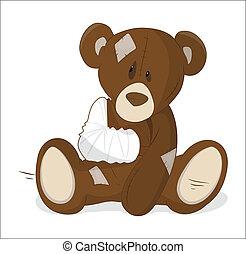 Unhealthy Teddy Vector