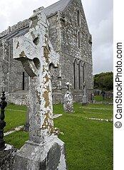 Celtic Cross near Corcomroe Abbey (Ireland) - Corcomroe...