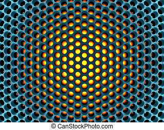 Abstract high-tech honeycomb structure 3d rendered image