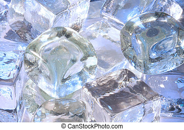 As cool as ice - A collection of ice cubes to form a very...