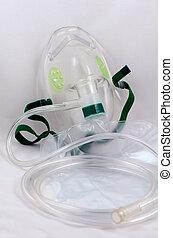Oxygen mask with bag. - Oxygen mask with bag for emergency.