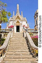 White pagoda in Phra Nakhon Khiri Historical Park in...