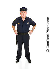 Police Officer Full Body Front - Full body frontal view of a...